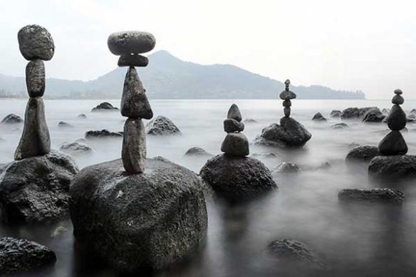 plage Méditation Zen noir et blanc