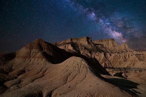 montagne constellation étoiles