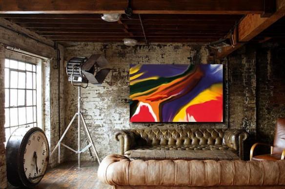 chesterfield Tableau salon abstrait Sunset