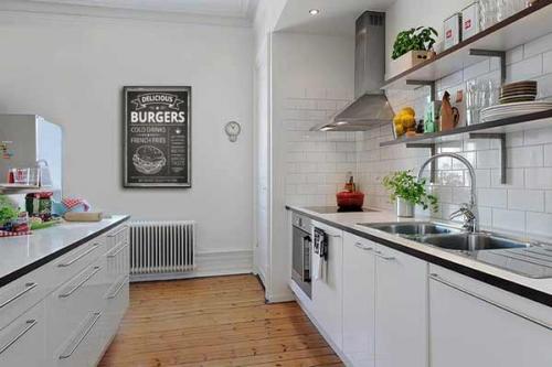 Tableau cuisine hamburger noir et blanc