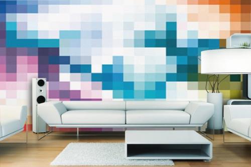 Papier peint abstrait pixel