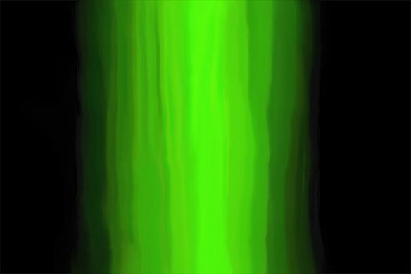 Tableau peinture design Melty vert