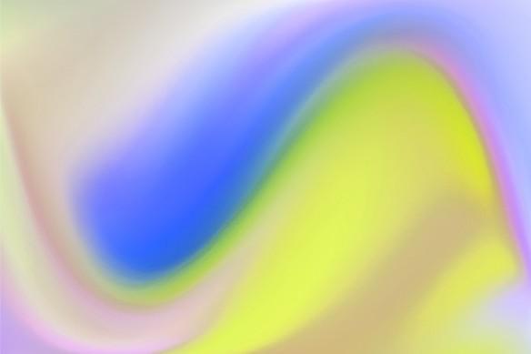 Tableau toile abstrait vague de couleur bleu