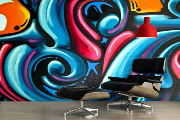 Papier Peint design graffiti
