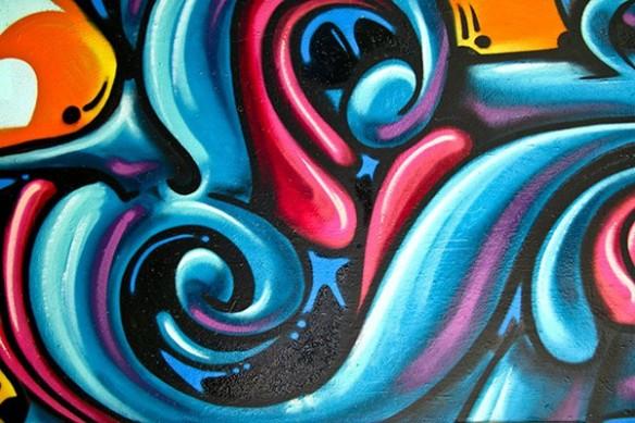 grande decoration murale design graffiti
