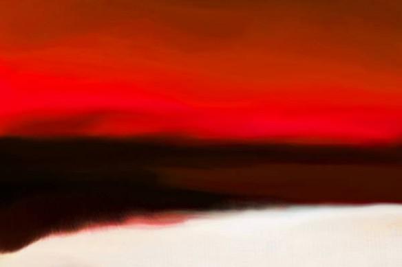 peinture Acalmie rouge