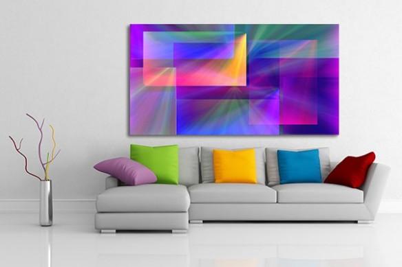 Tableau abstrait patchwork