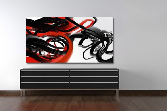 décoration mural salon Tableau design Trix