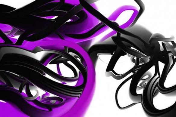 Papier peint moderne Trix violet