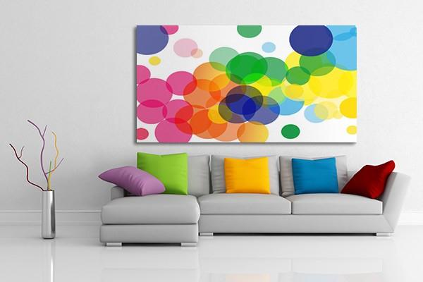 Tableau Abstrait Gouttes Color Es Izoa