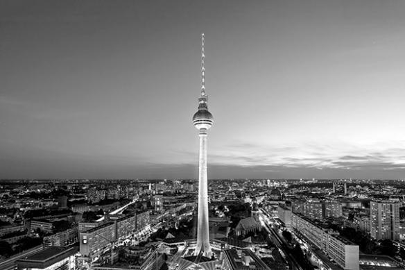 Tableau photo Berlin noir et blanc