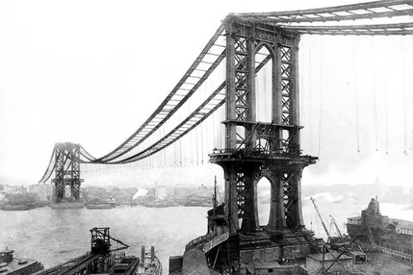 new york  pont de Manhattan construction