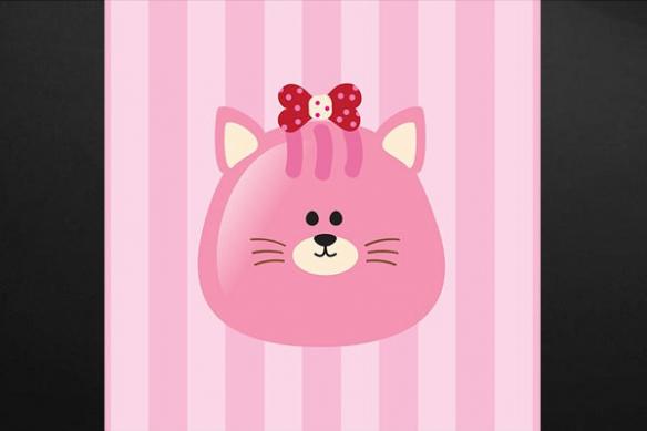 Tableau quadriptyque enfant Animaux chat