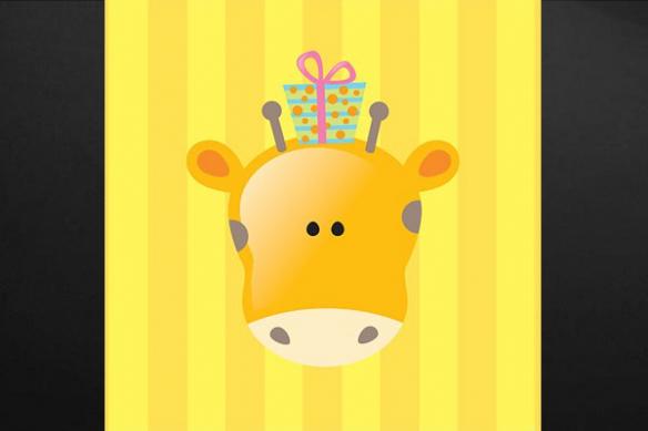 Tableau enfant Animaux girafe