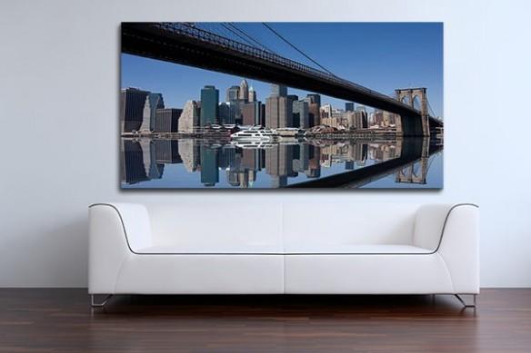 Tableau reflet Manhattan