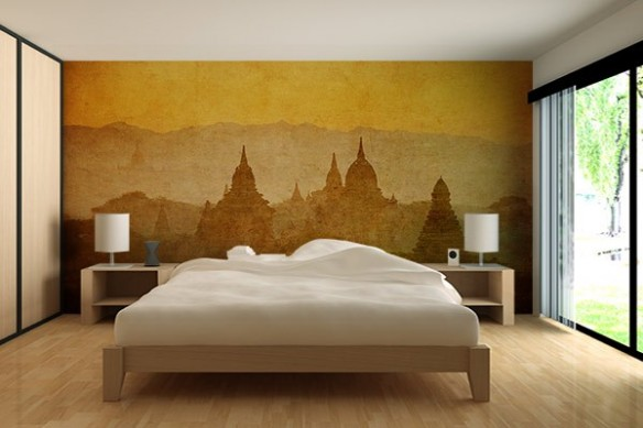 Papier peint déco Temple Birman