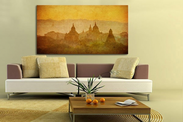 Tableau déco temples birmans