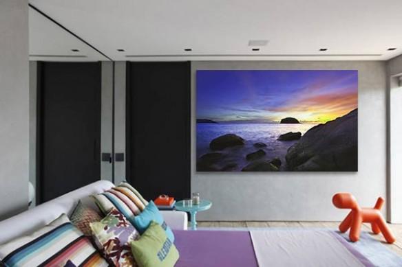 Tableau paysage Purple