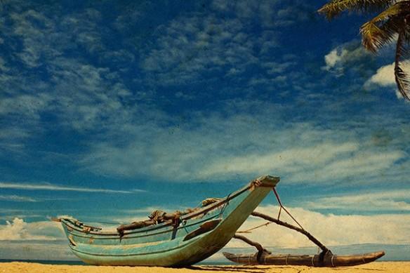 Pirogue plage caraibe