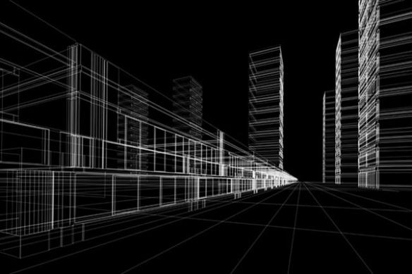 Papier Peint déco ville virtuelle
