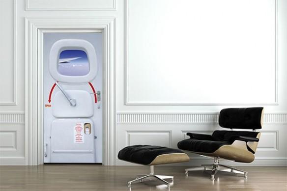 Sticker Porte Design Avion