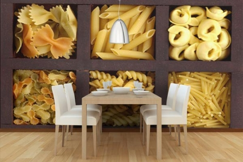 papier peint cuisine izoa. Black Bedroom Furniture Sets. Home Design Ideas
