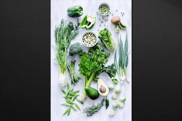 Légumes verts toile decoration cuisine