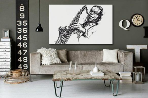 Tableau noir et blanc Jazzy