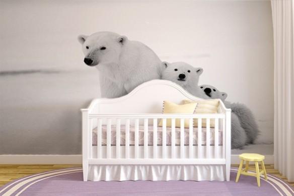 Papier peint photo ours blanc