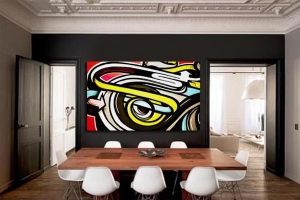 tableau design graffe oeil