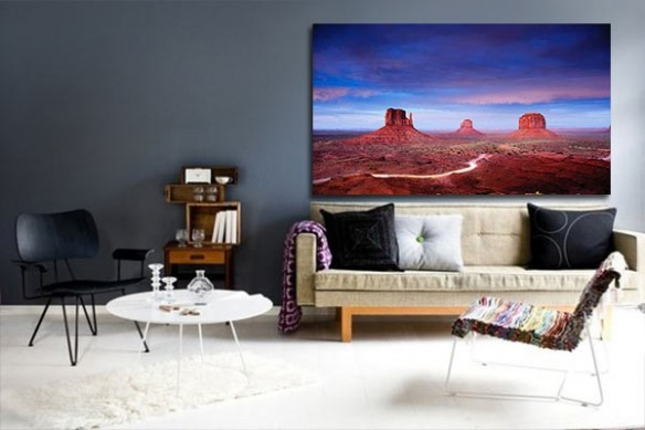 Tableau paysage falaise du Colorado