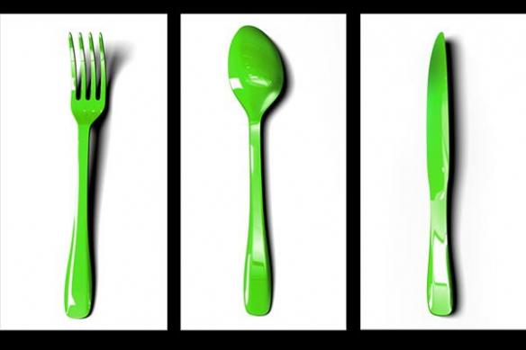 Tableau Triptyque fourchette