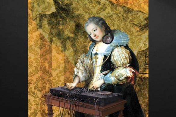 idée déco baroque Tableau moderne DJ Barok
