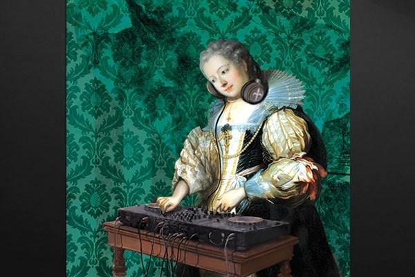 tableau moderne dj barok by damien seppoloni izoa. Black Bedroom Furniture Sets. Home Design Ideas