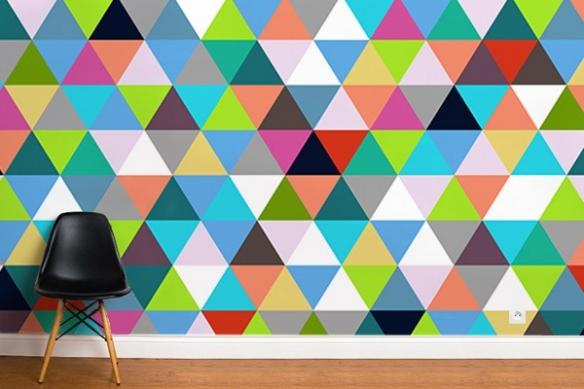 papier peint abstrait Triangles