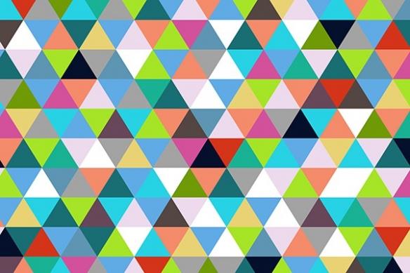 deco mur abstrait Triangles