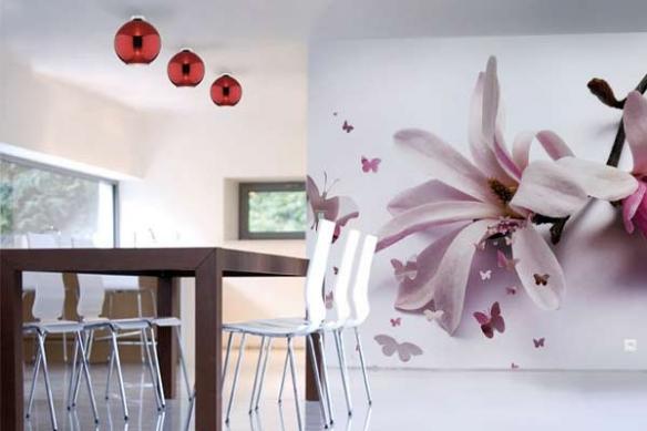 trompe oeil cuisine papillons  Fleur de Chrysalide