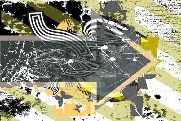 toile flèche abstrait Follow me