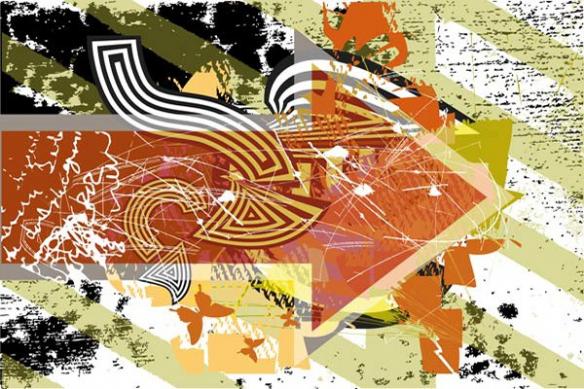 tableau art contemporain flèche
