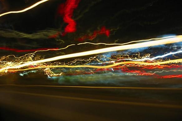 effet lumiere time laps autoroute