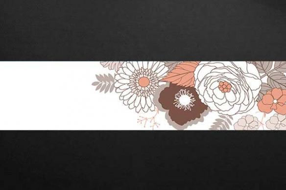 Papier peint frise Bois d'Iris