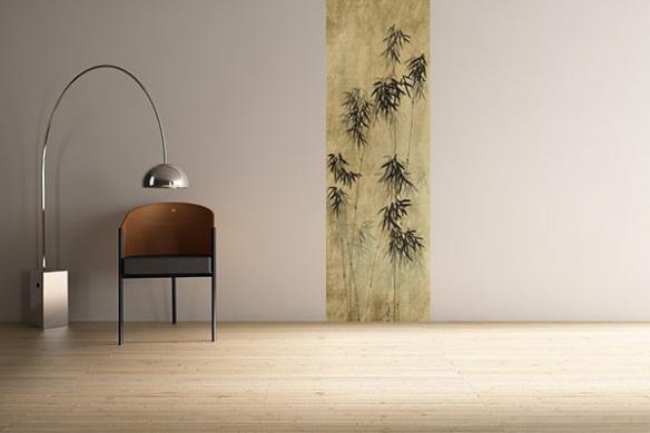 Papier peint zen Bambous