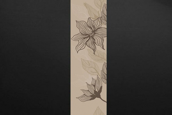 Papier peint déco fleur Bégonia marron