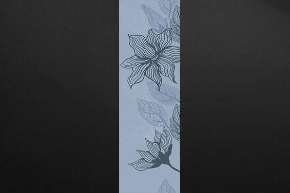 Papier peint chambre Bégonia bleu