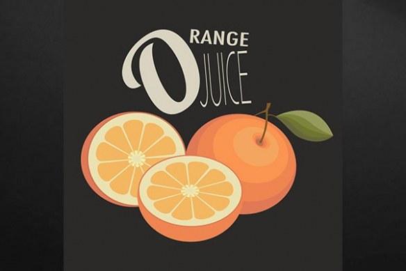 Tableau cuisine Orange