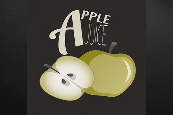 tableau déco originale Apple Juice