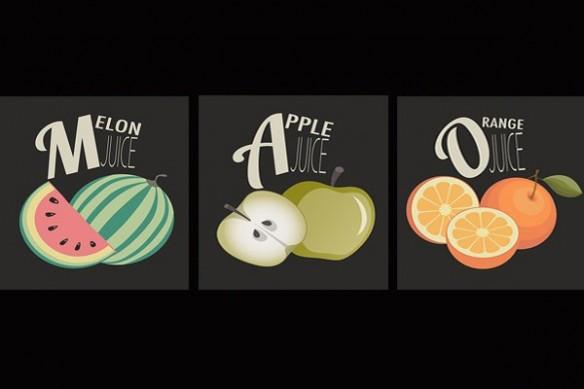 toile Triptyque Salade de Fruits