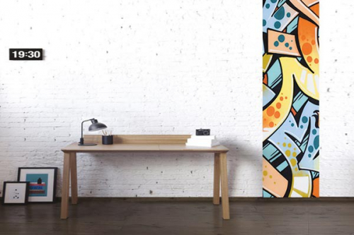 papier peint original mur tagu izoa. Black Bedroom Furniture Sets. Home Design Ideas