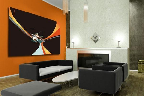 tableau design cube abstrait izoa. Black Bedroom Furniture Sets. Home Design Ideas