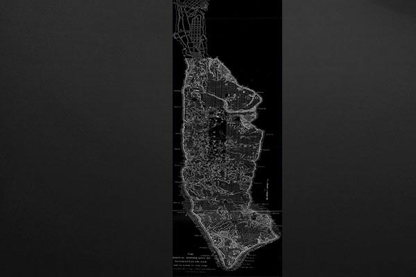 papier peint design plan de new york izoa. Black Bedroom Furniture Sets. Home Design Ideas